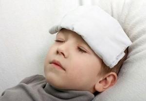 طفل مريض